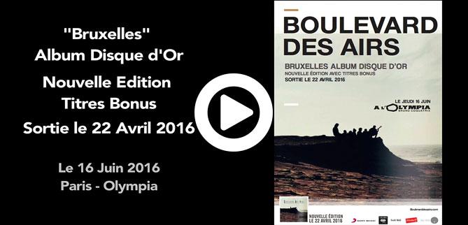 Re-édition Bruxelles 7 titres bonus Boulevard des airs