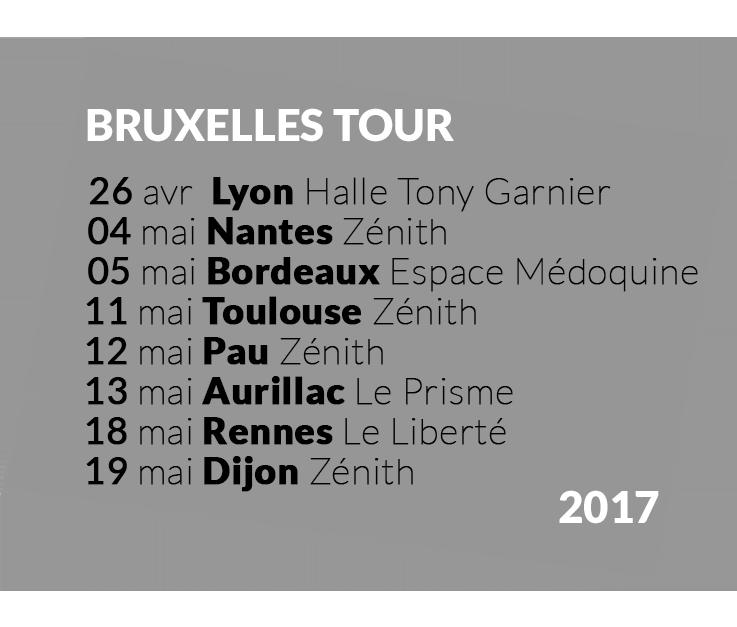 Annonce Zéniths Bruxelles Tour 2017 dates Boulevard des airs