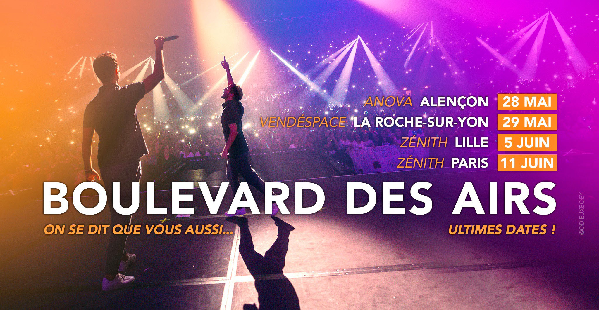 Ultimes dates 2021 Boulevard des Airs @OdieuxBoby